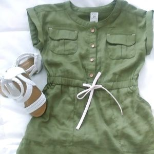 Carters Olive Green Dress